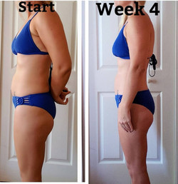 4 week transformation progress