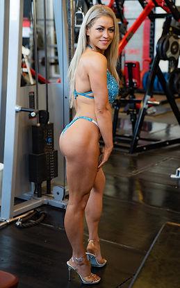 Bikini Model in a gym