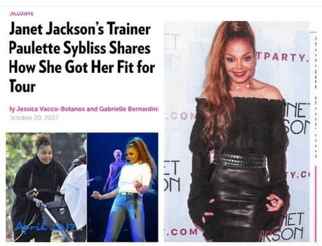 Janet Jackson post baby transformation