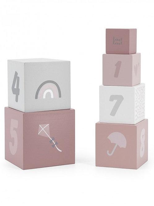 Stapelblokken roze