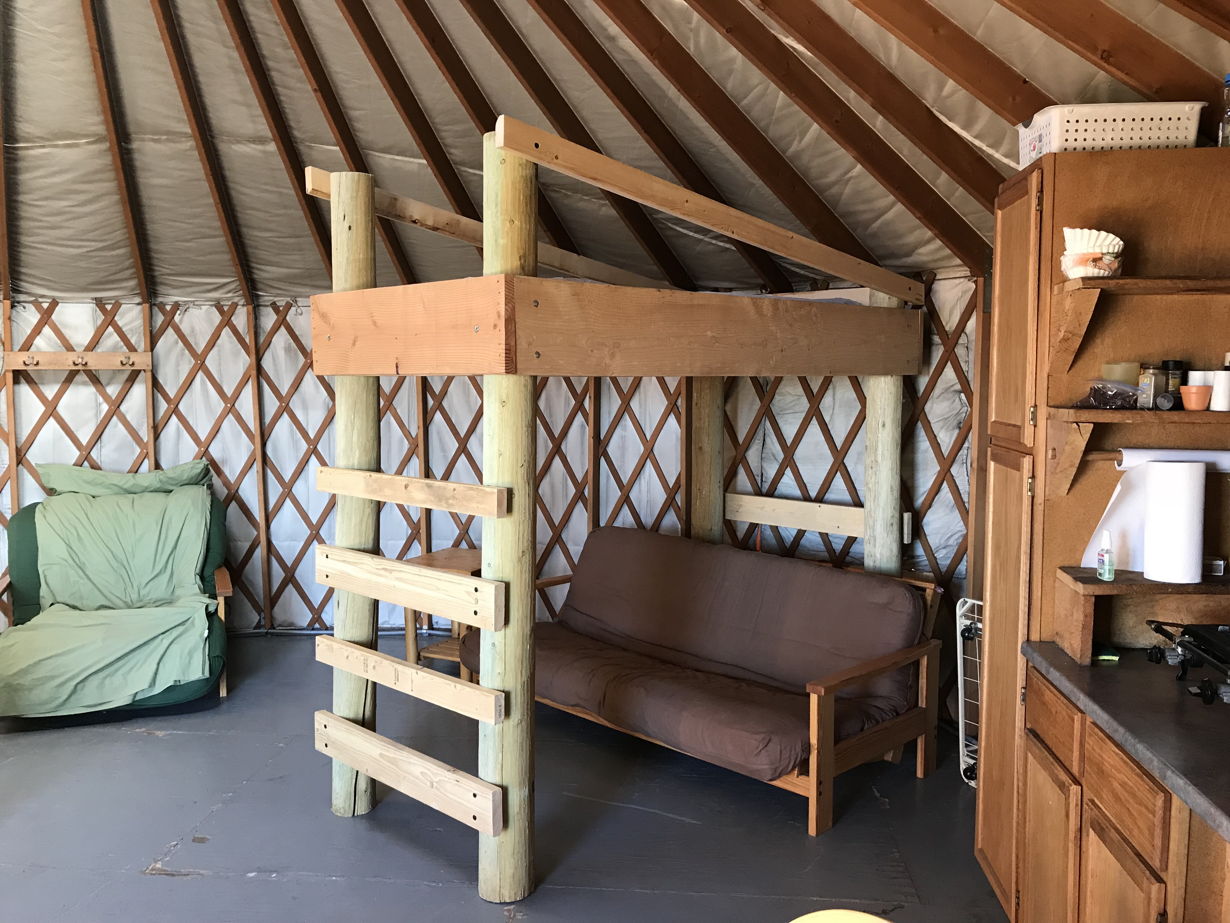 Inside North Park Yurts