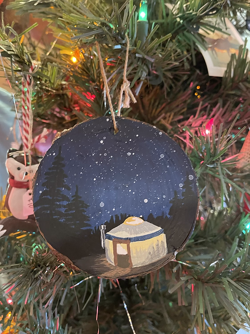 Hand painted Tree Ornaments -Locally made