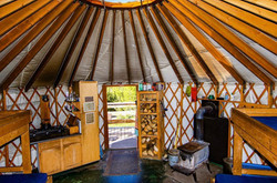 Inside Medicine Bow Yurt