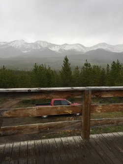 View from Medicine Bow Yurt