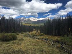 View from Dancing Moose Yurt