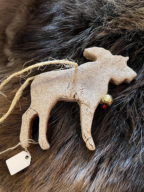 Gingerbread Yurt and Moose ornaments - locally made