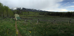 View from North Fork Canadian Yurt