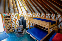 View from inside Medicine Bow Yurt