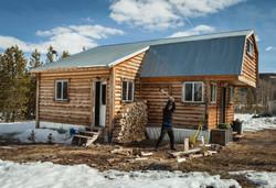 Splitting Wood @ Willow Lodge Cabin