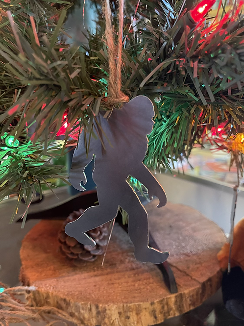 Metal die cut tree ornaments -locally made