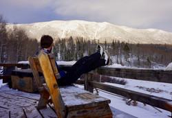 North Fork Canadian Yurt Deck