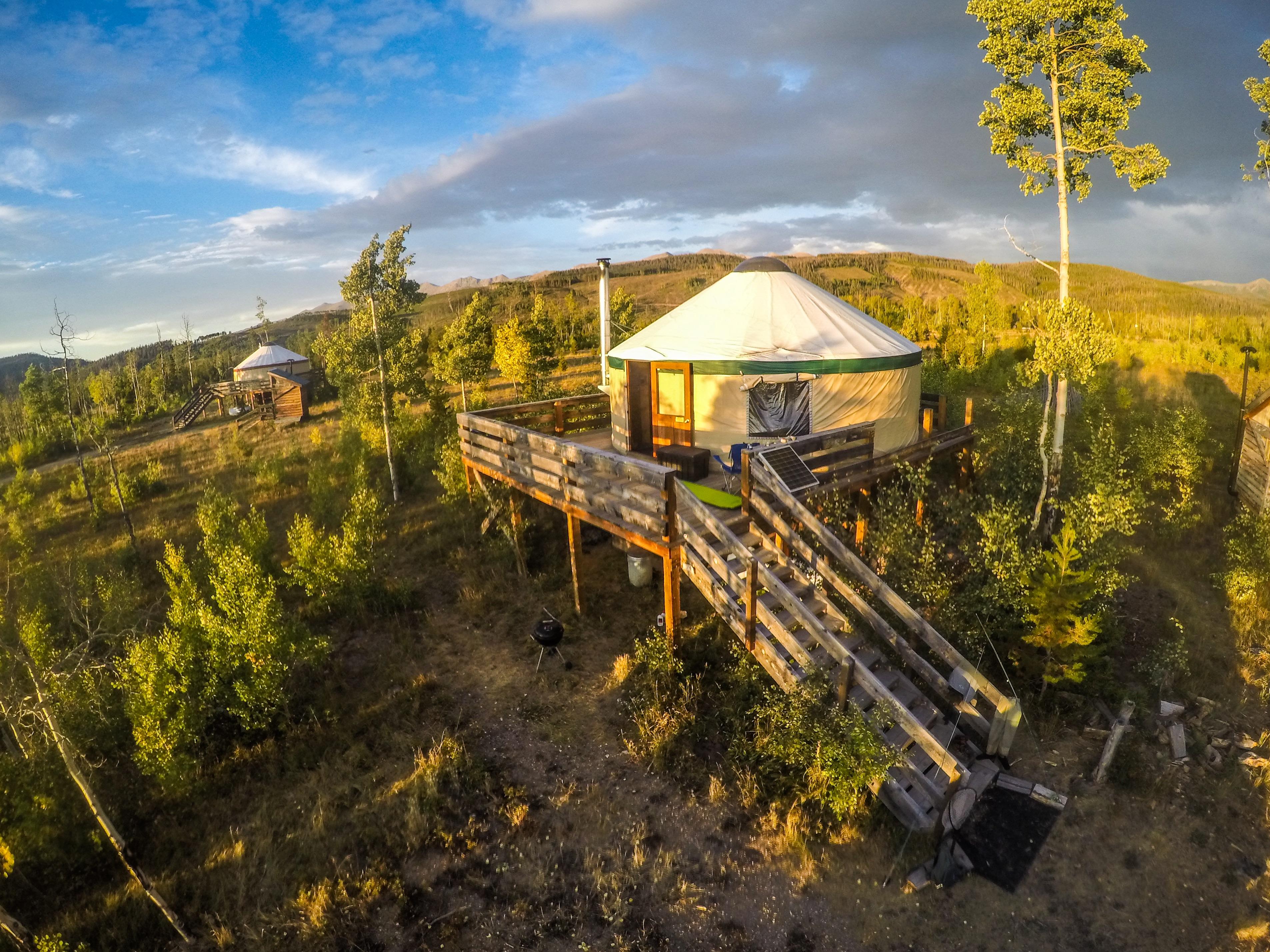 Aspen Yurt foreground (Sunset Yurt)