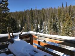 View from Clark Peak Yurt