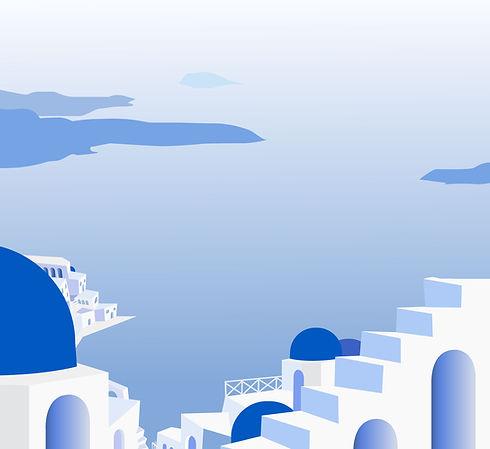 Pintado ilha grega
