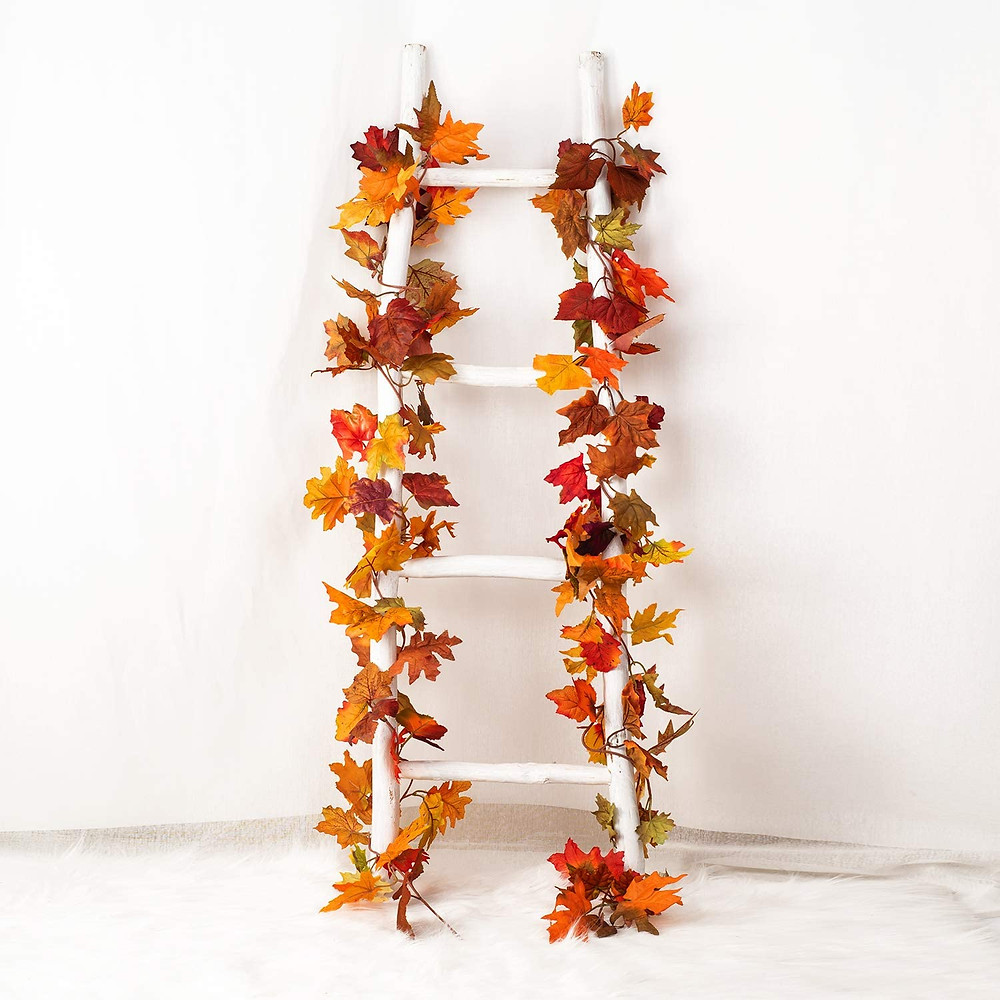 cheap amazon fall decor maple leaves garland