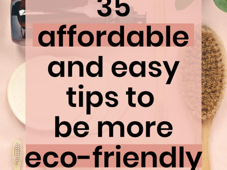 35 affordable ways to live an eco friendly lifestyle
