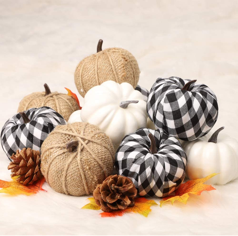 cheap amazon fall decor assorted rustic pumpkins