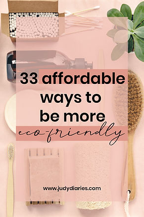 affordable ways to be more eco friendly