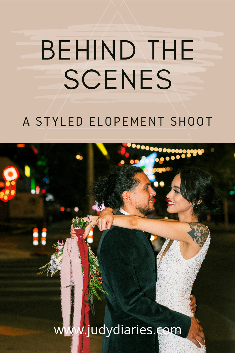 Vegas Elopement Photoshoot Behind the Scenes Wedding Photography