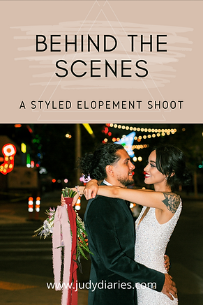 Behind the Scenes Elopement Photoshoot