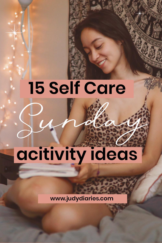 Self Care Sunday Activity Ideas