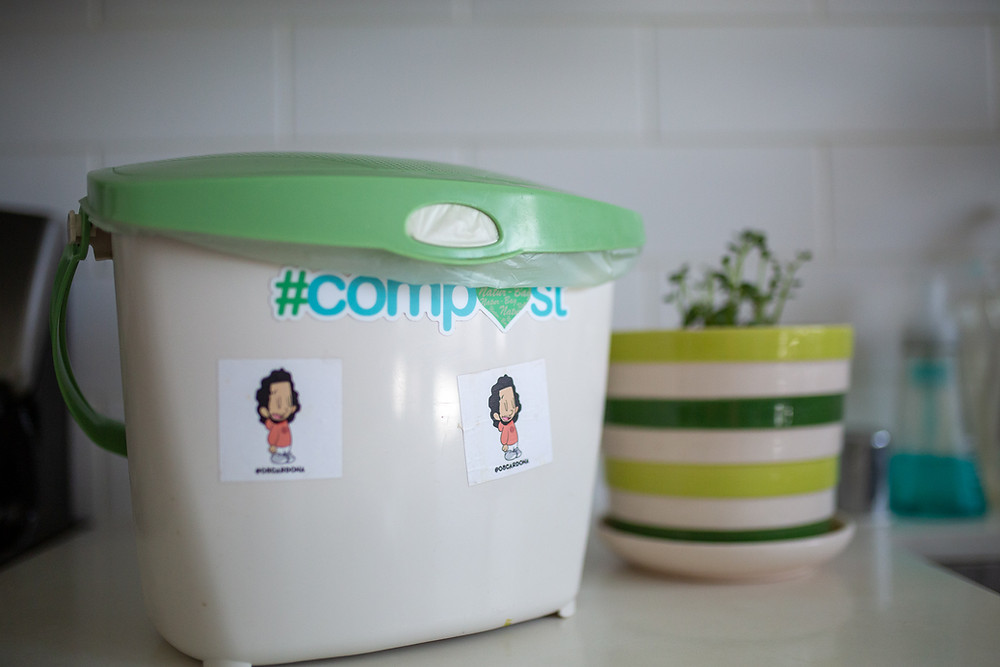 composting bin to easily store compostable organic matter