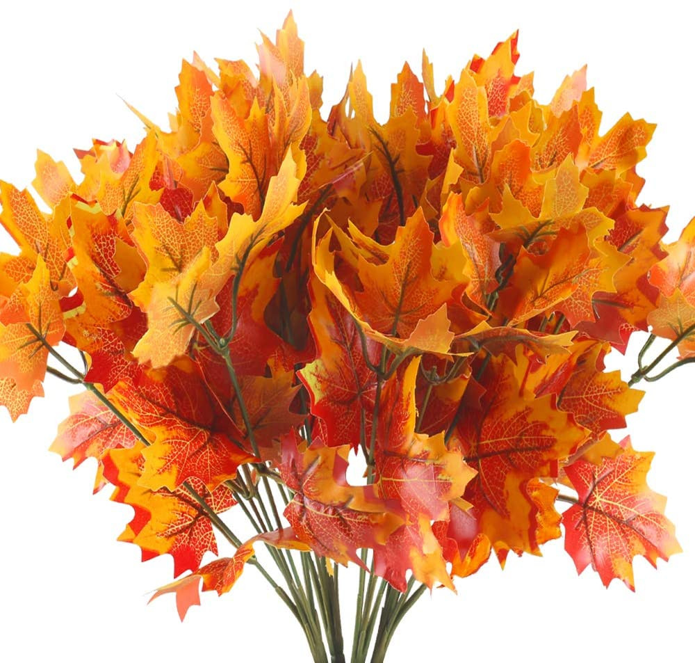 artificial maple leaves fall decor cheap amazon products