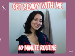 EVERYDAY NATURAL MAKEUP GRWM 10 minute subtle sparkle makeup routine