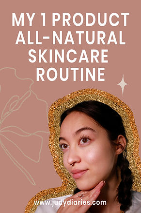 all natural skincare routine judy diarie