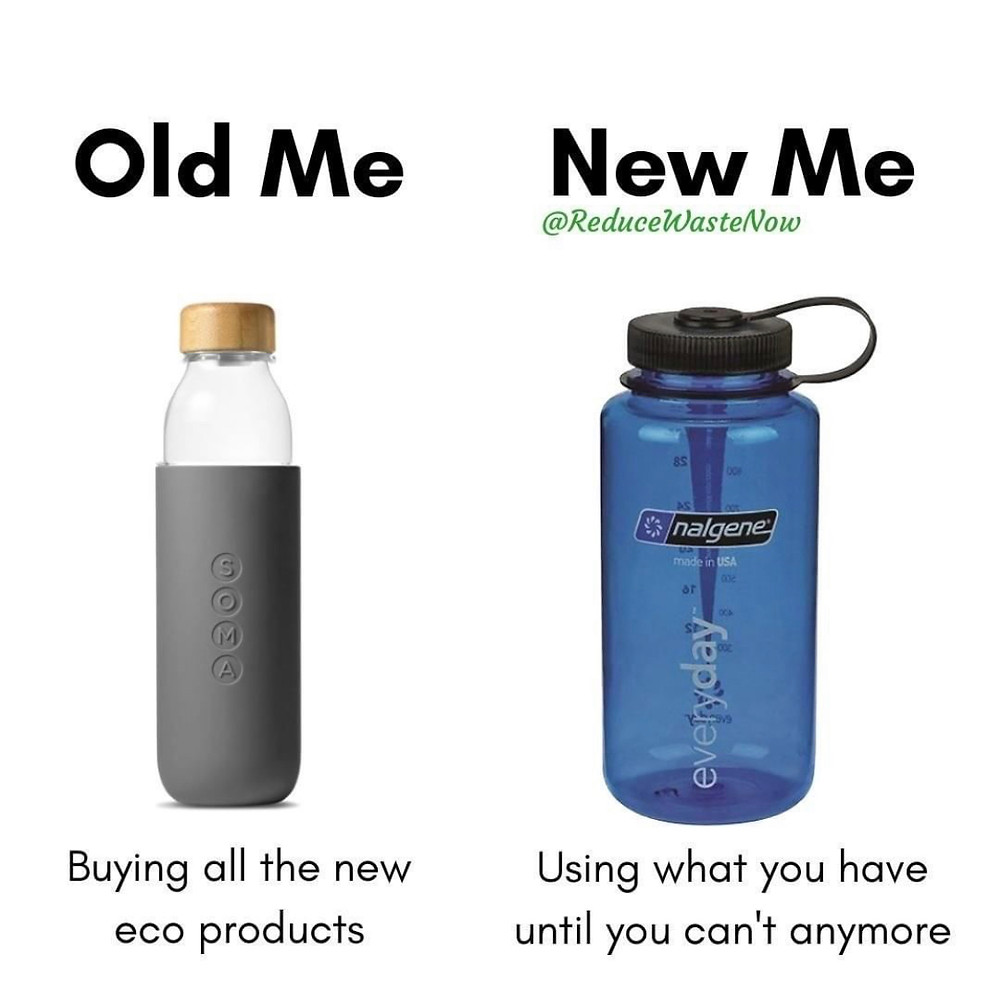 zero waste product alternatives. use what you have first