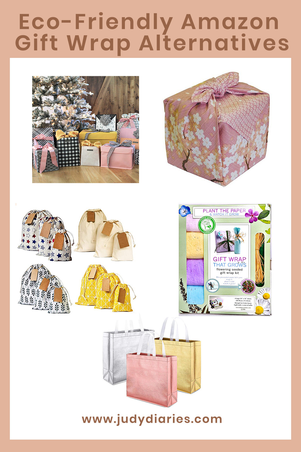 sustainable gift wrapping bags alternatives amazon eco friendly