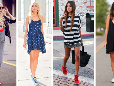 7 consejos para usar vestido con tenis sin perder el estilo.