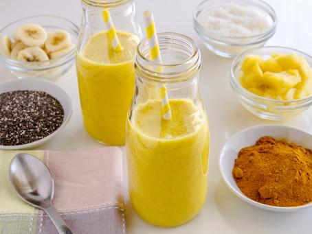Smoothies | 4 Smoothies con cúrcuma  ricos en antioxidantes.