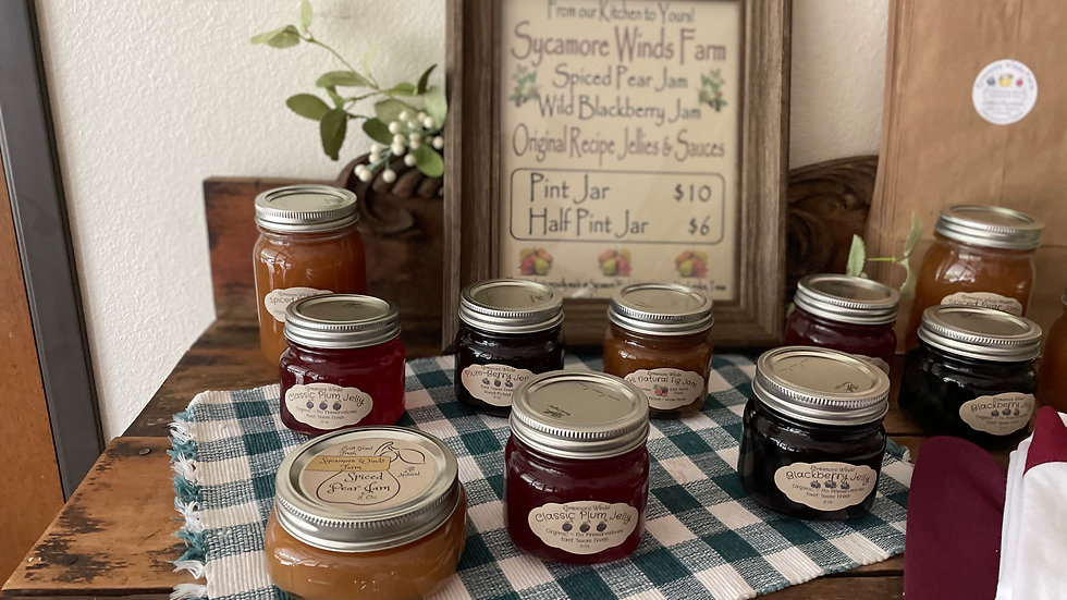 Sycamore Winds Jam and Jelly Pint