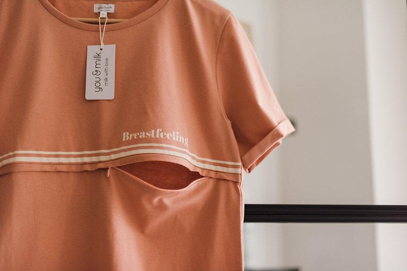 Tee-shirt allaitement Breastfeeling en coton biologique