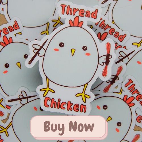 thread chicken vinyl sticker