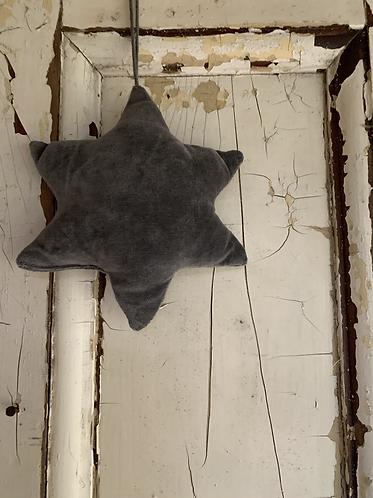 GREY VELVET STAR