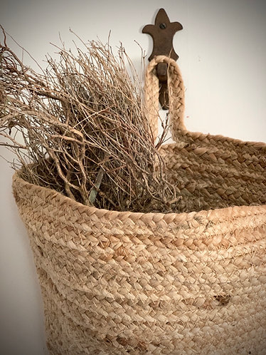 LARGE HAND WOVEN HANGING BASKET