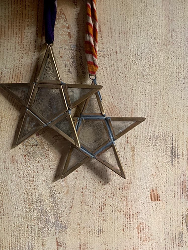 GOLD & GLASS STAR BAUBLES