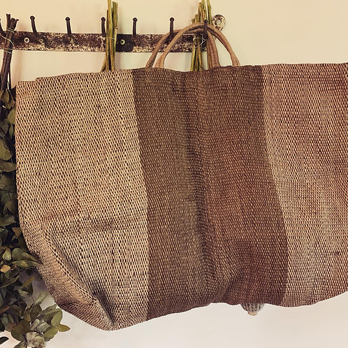 XL JUTE PORESH HOLD ALL - OLIVE