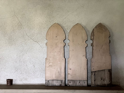 3 X FRENCH WOODEN BALLASTRADES