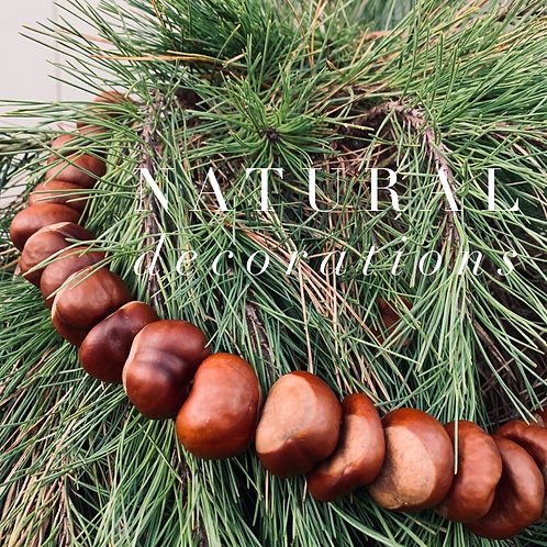 CONKER GARLAND - NATURAL WINTER DECORATIONS