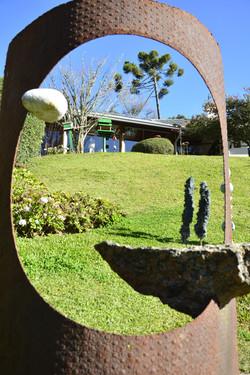 Esculturas no jardim