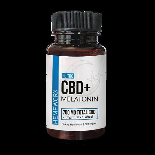 CBD + Melatonin 750 mg Soft Gels