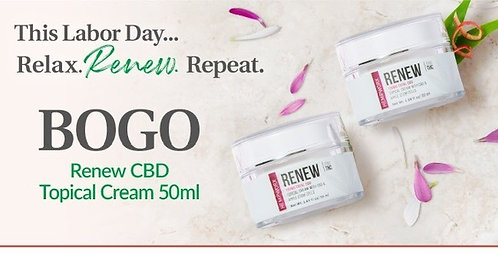 Renew Cream infused with 130mg of CBD 50ML