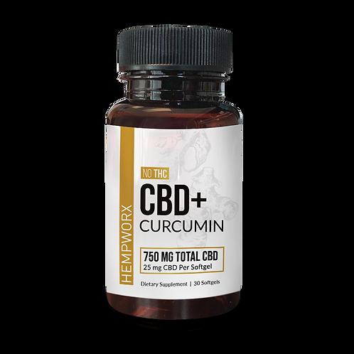 CBD + Curcumin Soft Gels 750mg