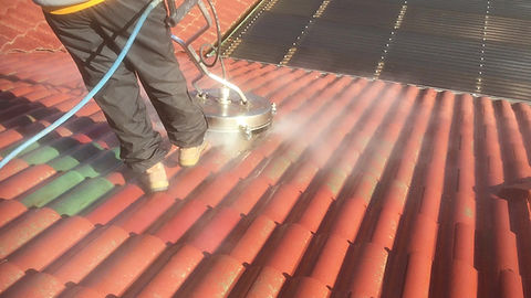 roof cleaning video