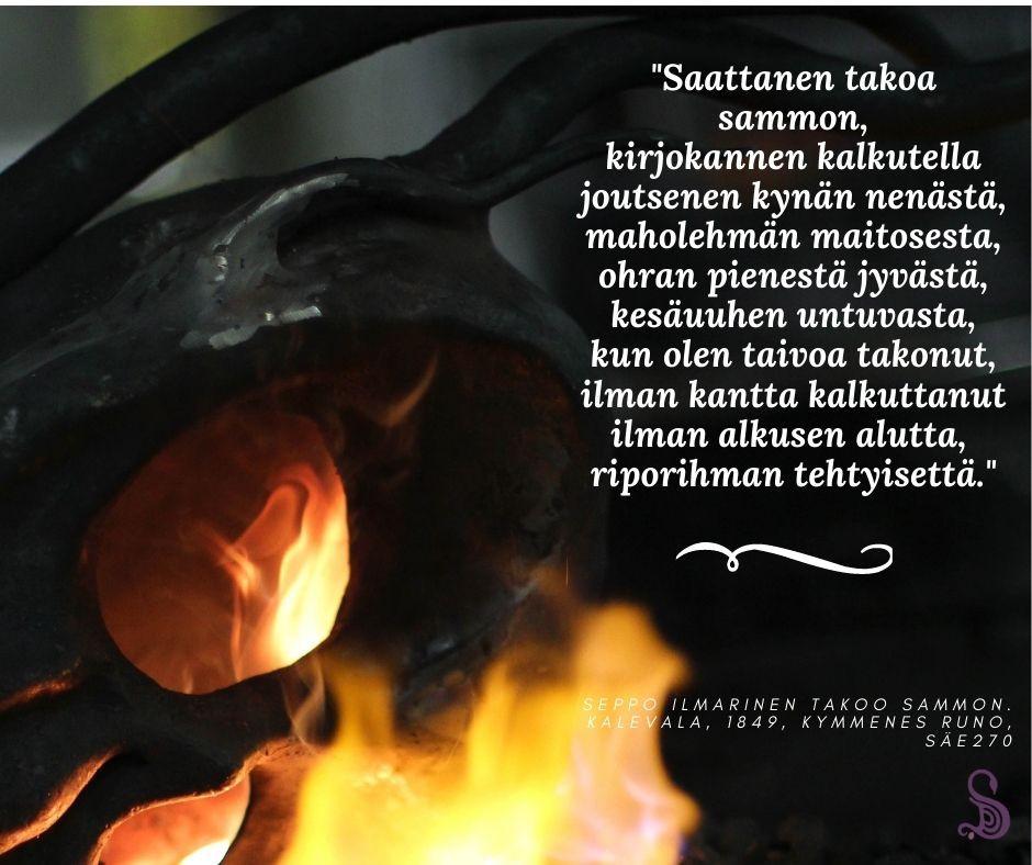 Rauta, tli, Kalevala, loitsut, kansanusko, Ilmarinen, Väinämöinen, magia, kirjokansi, kansanperinne, mytologia