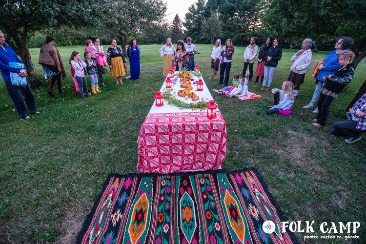 Folk Camp dinner 2019