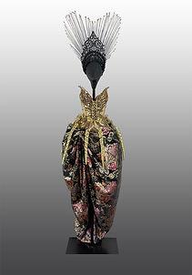 Athena wearable ceramic corset complete look